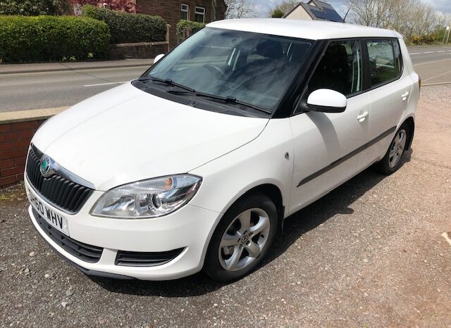 2011 SKODA FABIA 1.6 TDI CR 5 DOOR HATCH DIESEL IN WHITE.